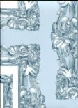 In The Picture Mirror Mirror Vintage Blue Wallpaper 1957/589 By Prestigious Wallcoverings